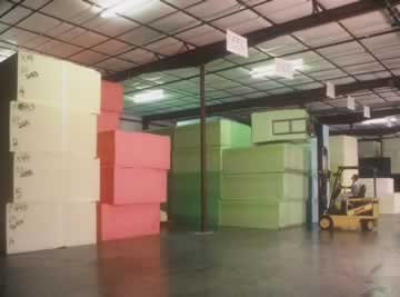flexible foam inventory at Wisconsin Foam Products